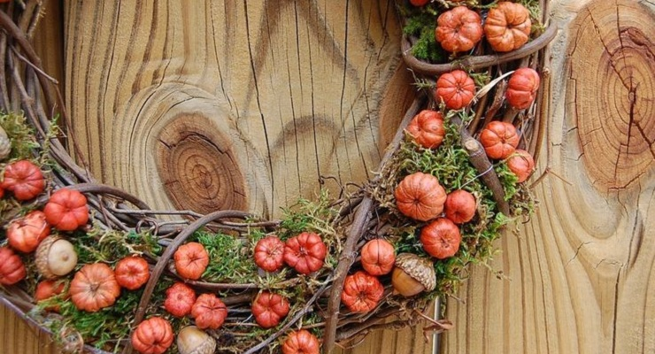 Putka Pods Pumpkin Wreath Craft 10-19-2015