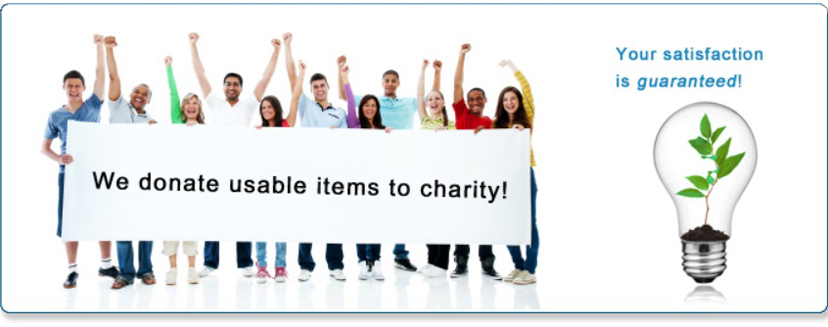 We donate usable items to charity